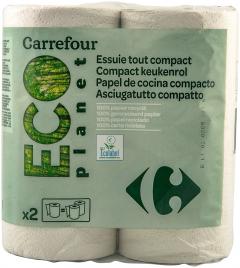 Prosoape din hartie Eco Carrefour 2 straturi 2 role