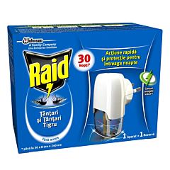 Aparat electric lichid cu fitil anti-tantari Raid 21ml