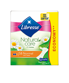 Absorbante zilnice Libresse Natural Care Normal 58 bucati