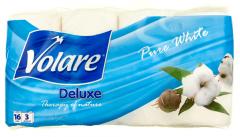 Hartie igienica alba Volare Deluxe Pure white 16 role 3 straturi