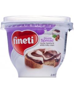 Crema de cacao, alune de padure si lapte Fineti Double 200g