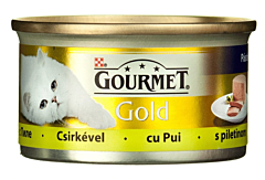 Hrana completa pentru pisici cu pui Purina Gourmet Gold 85g