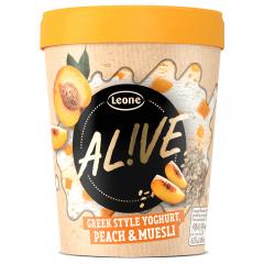 Inghetata cu iaurt, piersici si musli Alive 480ml