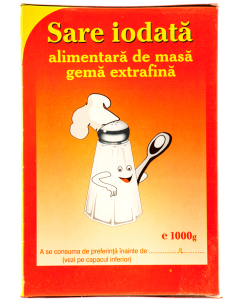 Sare iodata alimentara gema extrafina Salrom 1kg