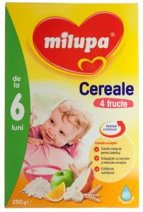 Cereale cu lapte si 4 fructe 6 luni+ Milupa 250g