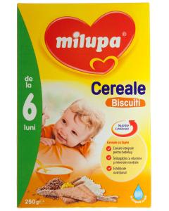 Cereale cu lapte si biscuiti 6 luni+ Milupa 250g