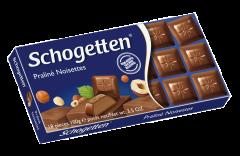 Ciocolata cu lapte si crema nougat Schogetten 100g