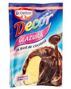 Decor glazura cu gust de ciocolata Dr.Oetker 100g
