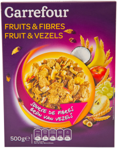 Cereale integrale Carrefour Fruits&Fibres 500g