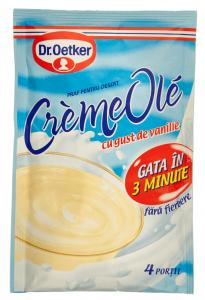 Praf pentru desert cu gust de vanilie Dr. Oetker CremeOle 80g