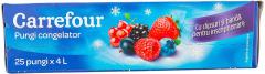 Pungi congelator Carrefour 25 pungi x 4L