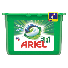 Detergent capsule Ariel All in One PODS Mountain Spring 15 spalari