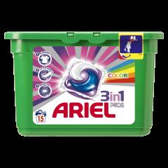 Detergent capsule 3in1 PODS Color Ariel 15 bucati