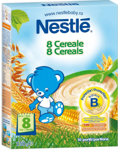 Cereale pentru sugarii 8 luni+ Nestle 8 Cereale 250g