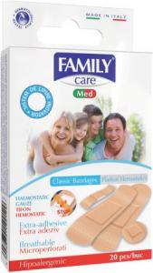 Plasturi hemostatici asortati Family Care 20 buc