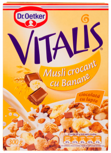 Musli crocant cu banane Dr. Oetker Vitalis 300g