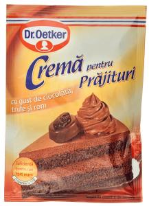 Praf de crema cu gust de ciocolata, trufe si rom Dr. Oetker 57g
