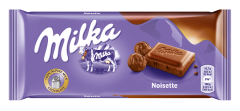 Ciocolata cu lapte si pasta de alune Milka 100g