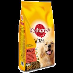 Hrana uscata cu vita si pasare pentru caini adulti Pedigree Vital Protection 10kg