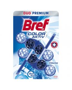 Odorizant toaleta Blue Aktiv Chlorine Bref, 2X50g