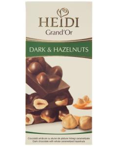 Ciocolata amaruie cu alune de padure Heidi Grand'Or 100g