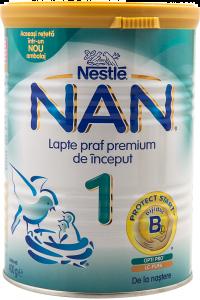 Formula de lapte praf premium de inceput 1 Nan 400g