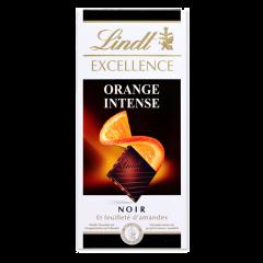 Ciocolata amaruie extra fina cu portocale si migdale Lindt 100g