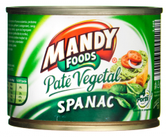 Pate vegetal cu spanac Mandy 200g