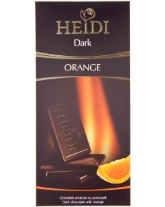 Ciocolata amaruie cu granule de portocale Heidi Dark 80g
