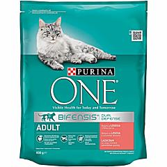 Hrana uscata pentru pisici cu somon si orez Purina One 800 g
