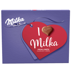 Praline ciocolata cu lapte si crema de migdale I Love Milka 110g