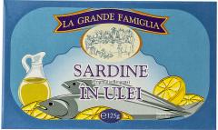 Sardine in ulei La Grande Famiglia 125g
