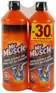 Gel pentru desfundare tevi Mr Muscle 30% din al 2-lea produs 2L