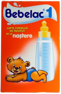 Lapte formula de inceput de la nastere Bebelac 1 250g