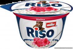 Desert de orez cu lapte si zmeura Muller Riso 200g