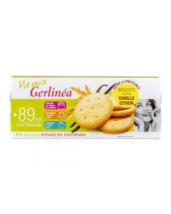 Biscuiti dietetici hiperproteici cu aroma lamaie-vanilie Gerlinea 156g
