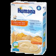 5 cereale cu lapte si biscuiti Humana 200g