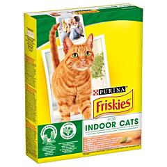 Hrana uscata pui verdeturi pentru pisici Purina Friskies Indoor 300g