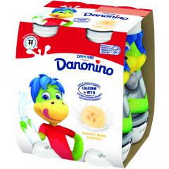 Iaurt de baut cu banane Danonino 4X100g