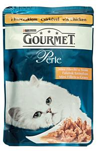 Hrana umeda pentru pisici cu pui Gourmet Perle 85g