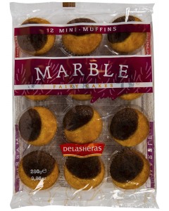 Mini magdalene Domino Delasheras Marble 280g