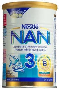 Lapte praf pentru copii sugari Nestle Nan 3 12 luni+ 400g