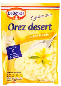 Orez desert cu gust de vanilie Dr.Oetker 124g