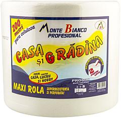 Maxi Rola Prosop celuloza Monte Bianco Casa si Gradina 200m, 2 straturi