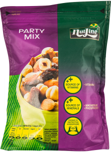 Mix de alune de padure si migdale coapte cu stafide Party Mix Nutline 150g