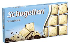 Ciocolata alba si stracciatella Schogetten 100g