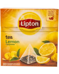 Ceai negru aromatizat, cu coaja de lamaie Lipton Lemon Tea 34g