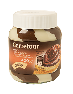 Crema de cacao si lapte Carrefour 400g