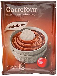 Praf de budinca cu gust de ciocolata fara zahar Carrefour 45g