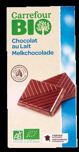 Ciocolata cu lapte bio Carrefour Bio 100g